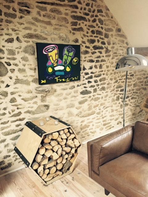 Woonkamer – Frans vakantiehuis La Bazonnerie